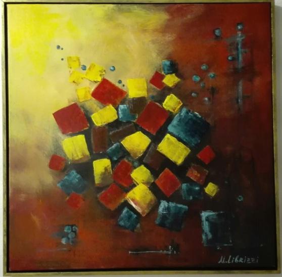 Abstraction 2. Acrylic on canvas. 40x60. 2017