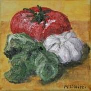 All for bruschetta. Oil on canvas. 15x15. 2009