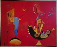 Copy og Kandinskys Mit und Gegen. Oil on canvas. 100x120. 2012