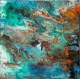 Distant galaxy. Acrylic on canvas. 30x30. 2017