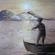 Fisherman. Oil om canvas. 40x40. 2008