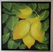 Lemons. Acrylic on canvas. 30x30. 2013