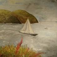 Lipari Island. Oil on canvas. 40x40. 2008