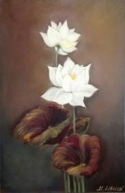 Lotus. Oil on canvas. 40x60. 2017