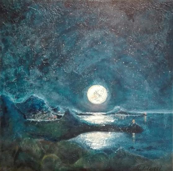 Moonlight. Acrylic on canvas. 50x50. 2018