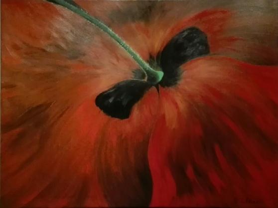 Poppy. Acrylic on canvas. 60x80. 2017