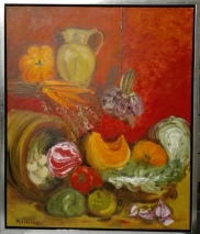 Still life in red. Oil on canvas. 50x60. 2009