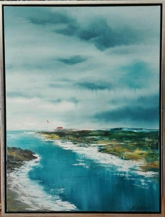 Summer day in Rørvig. Oil on canvas. 60x80. 2017