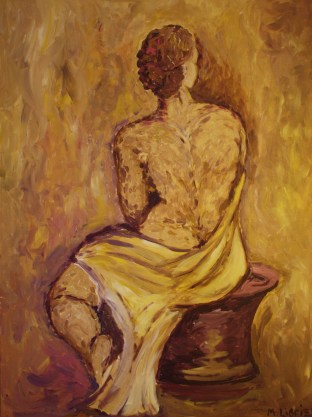 Tanechka. Oil on canvas. 80x100. 2012