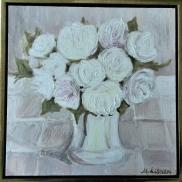 White on white. Oil on canvas. 30x30. 2011