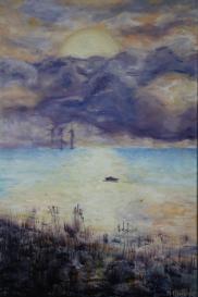 Windmills of Øresund. Oil on canvas. 40x60. 2009
